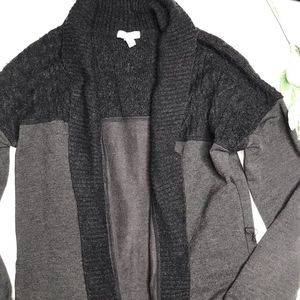 SOFT JOIE | sz S cable knit contrast cardigan